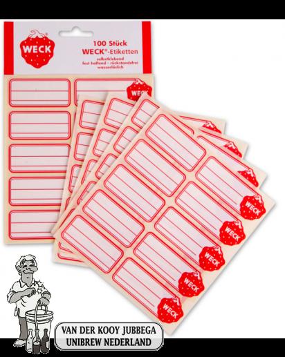 weck etiketten per 100 stuks