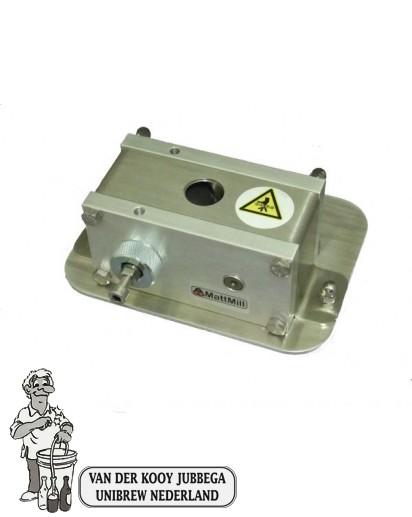 Mattmill Compact Schrootmolen geheel van rvs met walsen.