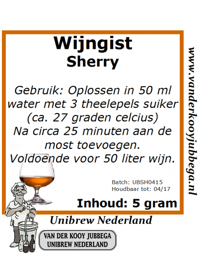 Wijngistsachet Sherry