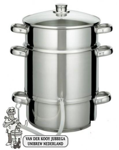 Stoomextractor 7 liter RVS met startset