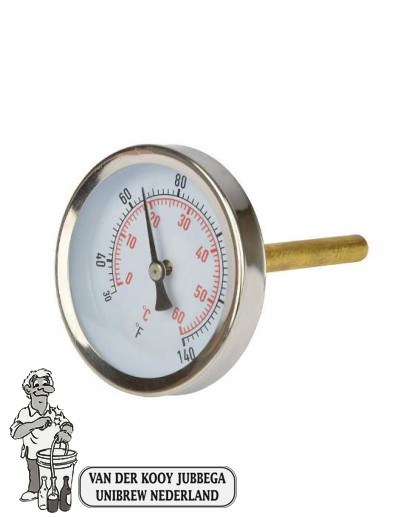 Analoge thermometer voor de geïntegreerde behuizing in de FastFerment.