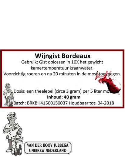 Wijngist Bordeaux 40 Gram