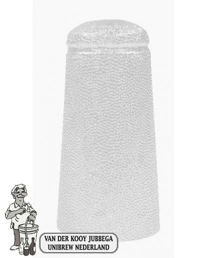Aluminium kapsules wit 34 x 90 mm 25 stuks.