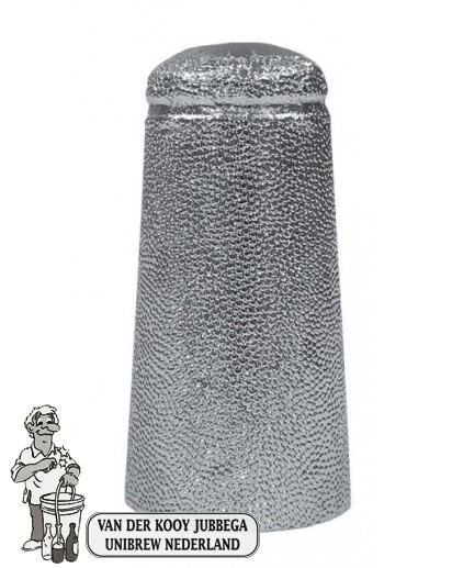 Aluminium kapsules zilver 34 x 90 mm 100 stuks.