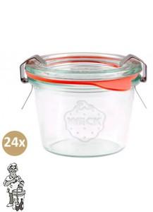 Weckglas mini stort 80 ml. per doos van 24 stuks 080 (exclusief weckklemmen)