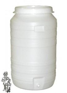 Gistingsvat plastic incl. kraan en waterslot 220 liter