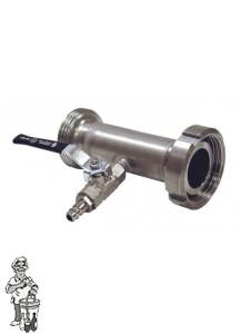 Venturi vloeistofinjector RVS NW- 40