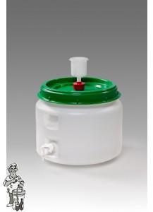 Gistingsvat plastic incl. kraan en waterslot 31 liter