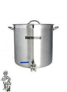 Brewferm brouwketel RVS 50 liter met bolkraan (40 x 40 cm)