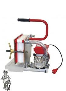 RVS platenfilter 20x20 met elektropomp 6 platen
