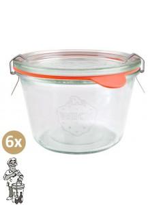 Weckglas stort 0,37 ltr. per doos van 6 stuks 741