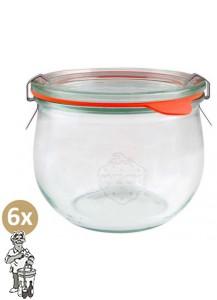 Weckglas tulp 0,58 ltr. per doos van 6 stuks 744 (exclusief weckklemmen)