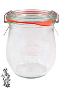 Weckglas mini tulp 0,22 ltr. per stuk 762