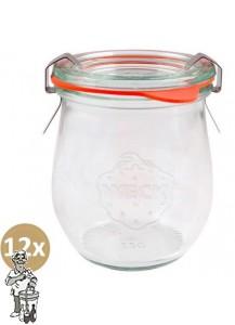 Weckglas mini tulp 0,22 ltr. per doos van 12 stuks 762 (exclusief weckklemmen)