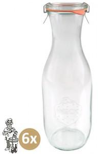 Weckglas sap 1 ltr. per doos van 6 stuks 766 (exclusief weckklemmen)
