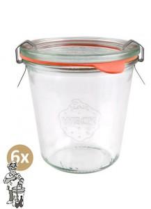 Weckglas stort 290 ml per doos van 6 stuks 900