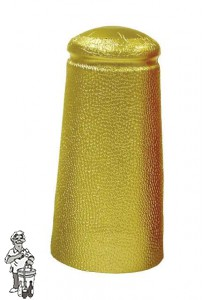 Aluminium kapsules goud 34 x 90 mm 100 stuks