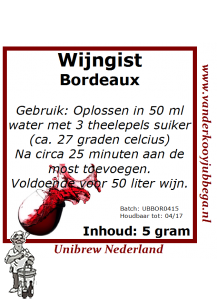 Wijngistsachet Bordeaux
