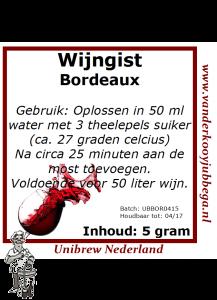 Wijngistsachet Bordeaux