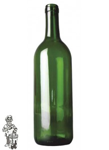 Bordeauxfles groen 0,75 ltr / stuk