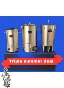 Brew Monk™ Alles-in-een brouwsysteem 30 Liter. (met gratis wortkoeler 20 liter t.w.v. €59,50) Triple summer deal!