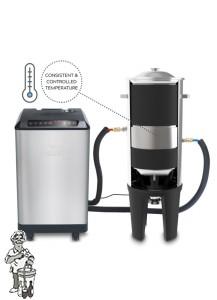 1x Grainfather Glycol Chiller ,1x   Grainfather Conical Fermenter 30 liter Pro wireless plus Dual Tap klep en een temperatuurregelaar.