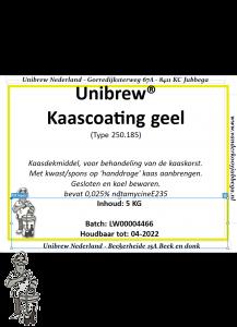 Kaascoating 5 kg geel type 250/185 G+ 0.25%N