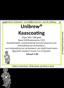Kaascoating 5 kg Geel type 500 /100