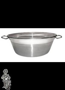 Confituurkookpot- jam kook pan 27- 38 cm 9L inox (voor alle warmte bronnen)