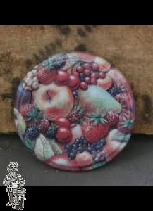 Twist off deksel 82 mm met fruitmotief per 10 stuks  (3 stuks op voorraad)