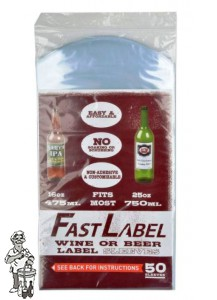 FastLabel beer & wine label sleeves - 750 ml - 50 stuks