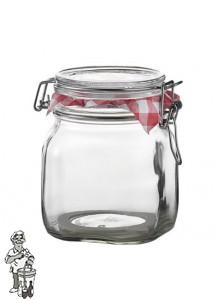Glazen voorraadpot 500 ml met klemdeksel