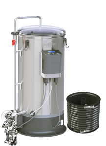 Grainfather automatische rvs Aktie Plus Gratis Wortometer + MJ Hop Spider + 3 scale hydrometer + Monofilament filter zak 100 micron .
