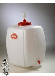Gistingscontainer vierkant plastic incl. kraan en waterslot 150 liter