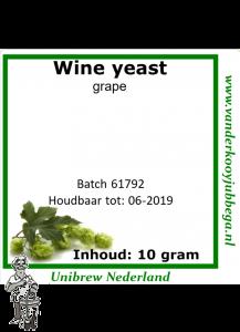 Wine yeast Grape 10 gram