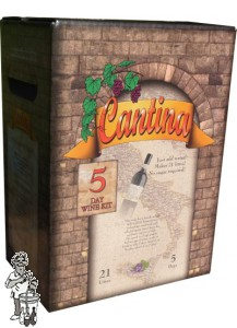 Cantina 5 dagen wijnpakket  voor 21 liter Shiraz/Merlot