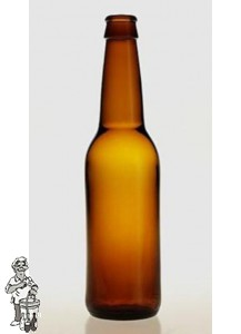 Bierfles Long Neck 33 cl bruin 24 stuks.