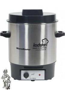 Kochstar Roestvrijstalen pan 27 liter met 1800 Watt verwarmingselement en thermostaat
