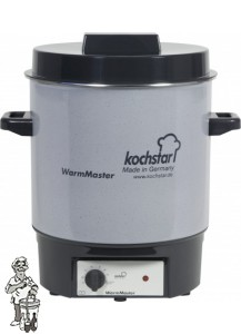 Kochstar emaïlle pan 27 liter met verwarmingselement en thermostaat