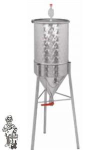 Gistingstank Conisch RVS 100 Liter.