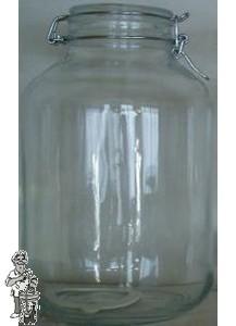 Glazen vooraadpot 3 liter met klemdeksel