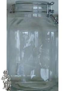 Glazen vooraadpot 5 liter met klemdeksel
