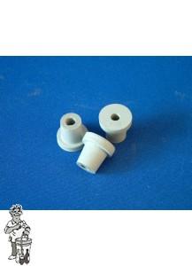 Rubber doorvoer voor waterslot grijs