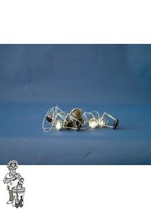 Draadkorfjes met zilver kapje per 100 stuks