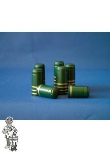 Krimpkapsules 1000 stuks groen met rand goud