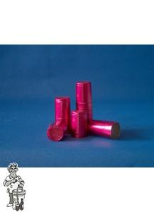 Aluminium kapsules rose 100 stuks.
