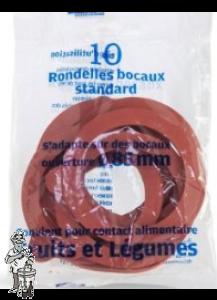 Inmaakringen - 10 stuks  diameter 85 mm voor voorraad pot met klemdeksel