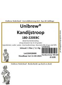 Kandij siroop bruin 1Liter 180-220 EBC