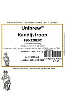 Kandij siroop light 5 EBC 5 Liter