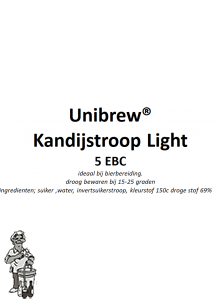 Kandij siroop light 5 EBC 1 Liter